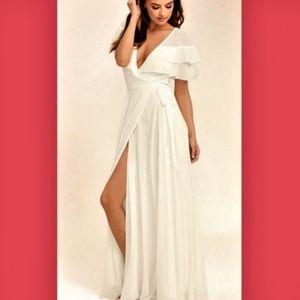 "White Lulu's ""Wonderful Day"" Maxi Dress"